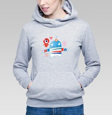 Влюблённые монстрики - Купить детские толстовки с космосом в Москве, цена детских толстовок с космосом  с прикольными принтами - магазин дизайнерской одежды MaryJane
