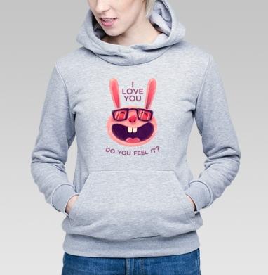 Влюбленный зая - Купить детские толстовки со смайлами в Москве, цена детских толстовок со смайлами с прикольными принтами - магазин дизайнерской одежды MaryJane