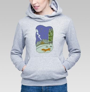 Зимний вечерок - Купить детские толстовки с дымом в Москве, цена детских толстовок с дымом  с прикольными принтами - магазин дизайнерской одежды MaryJane