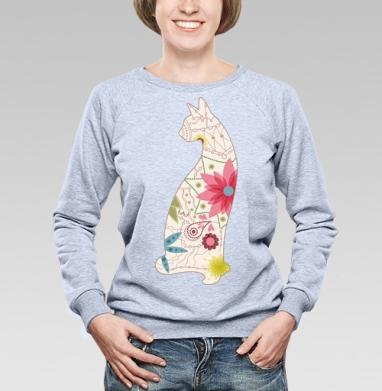 Кошка в винтажных цветах - Купить детские свитшоты модные в Москве, цена детских свитшотов модных  с прикольными принтами - магазин дизайнерской одежды MaryJane