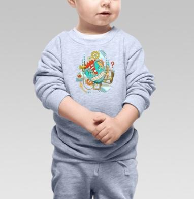 Улыбающийся РОБОТ - Купить детские свитшоты абстрактные в Москве, цена детских свитшотов абстрактных  с прикольными принтами - магазин дизайнерской одежды MaryJane
