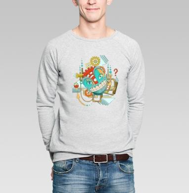 Улыбающийся РОБОТ - Купить мужские свитшоты с роботами в Москве, цена мужских свитшотов с роботами с прикольными принтами - магазин дизайнерской одежды MaryJane