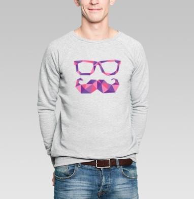 100% ХИПСТЕР - Купить мужские свитшоты с геометрическим рисунком в Москве, цена мужских свитшотов с геометрическим рисунком  с прикольными принтами - магазин дизайнерской одежды MaryJane