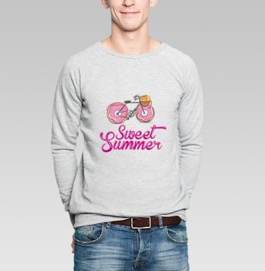 Ах, лето - Купить мужские свитшоты с велосипедом в Москве, цена мужских свитшотов с велосипедом с прикольными принтами - магазин дизайнерской одежды MaryJane