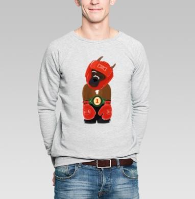 Боксёр - Купить мужские свитшоты с символами в Москве, цена мужских свитшотов с символом с прикольными принтами - магазин дизайнерской одежды MaryJane