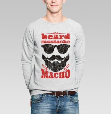 Борода... усы... мачо - Купить мужские свитшоты с бородой в Москве, цена мужских свитшотов с бородой  с прикольными принтами - магазин дизайнерской одежды MaryJane
