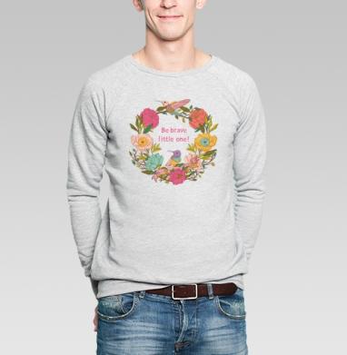 Цветочный орнамент с птицами и цветами - Купить мужские свитшоты с илюстрациями в Москве, цена мужских свитшотов с илюстрациями  с прикольными принтами - магазин дизайнерской одежды MaryJane
