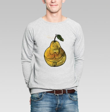 Даже груша - Купить мужские свитшоты с йогой в Москве, цена мужских свитшотов с йогой  с прикольными принтами - магазин дизайнерской одежды MaryJane