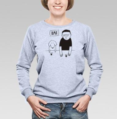 Dog  - Cвитшот женский, серый-меланж  320гр, стандарт, мужские, Популярные