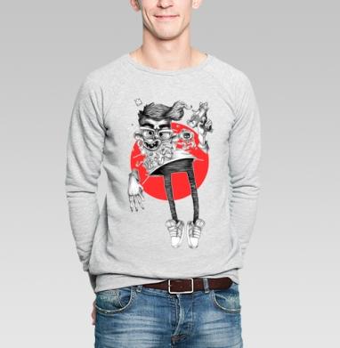 Дядька с оружием - Купить мужские свитшоты с оружием в Москве, цена мужских свитшотов с оружием  с прикольными принтами - магазин дизайнерской одежды MaryJane