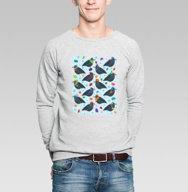 Грачи - Купить мужские свитшоты с птицами в Москве, цена мужских  с птицами  с прикольными принтами - магазин дизайнерской одежды MaryJane