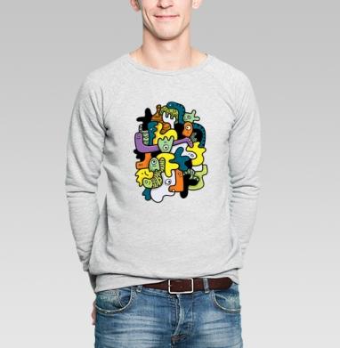 Клубящиеся мысли - Купить мужские свитшоты абстрактные в Москве, цена мужских свитшотов абстрактных  с прикольными принтами - магазин дизайнерской одежды MaryJane