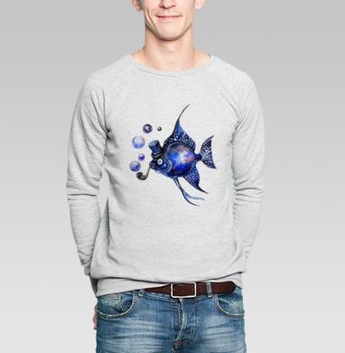 Космическая скалярия - Купить мужские свитшоты с рыбой в Москве, цена мужских свитшотов с рыбой  с прикольными принтами - магазин дизайнерской одежды MaryJane