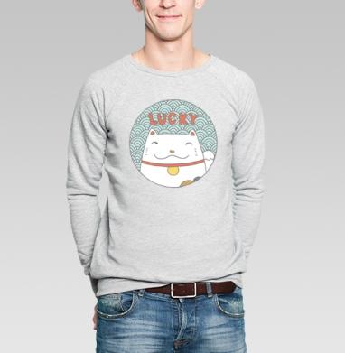Лаки кэт - Купить мужские свитшоты с кошками в Москве, цена мужских  с кошками  с прикольными принтами - магазин дизайнерской одежды MaryJane