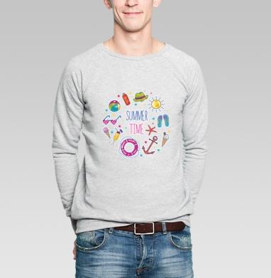 Лето - это маленькая жизнь - Купить мужские свитшоты с солнцем в Москве, цена мужских свитшотов с солнцем  с прикольными принтами - магазин дизайнерской одежды MaryJane