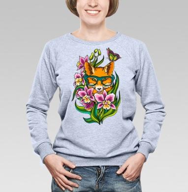 Лиса в очечах - Купить детские свитшоты хипстерские в Москве, цена детских свитшотов хипстерских  с прикольными принтами - магазин дизайнерской одежды MaryJane