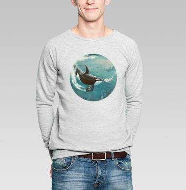 Орка - Купить мужские свитшоты морские  в Москве, цена мужских свитшотов морских   с прикольными принтами - магазин дизайнерской одежды MaryJane