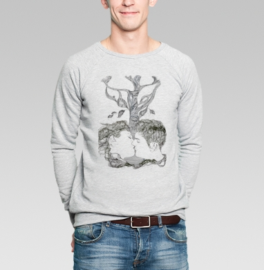 Поцелуй - Купить мужские свитшоты романтика в Москве, цена мужских  романтических  с прикольными принтами - магазин дизайнерской одежды MaryJane