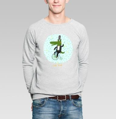 Прогулка - Купить мужские свитшоты с велосипедом в Москве, цена мужских свитшотов с велосипедом с прикольными принтами - магазин дизайнерской одежды MaryJane