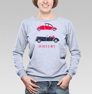 Retro cars - Купить женские свитшоты с автомобилями в Москве, цена женских свитшотов с автомобилями  с прикольными принтами - магазин дизайнерской одежды MaryJane