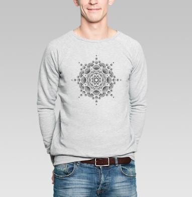 Стилизованный цветок - Купить мужские свитшоты абстрактные в Москве, цена мужских свитшотов абстрактных  с прикольными принтами - магазин дизайнерской одежды MaryJane