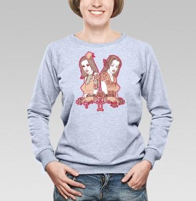 Twins - Купить женские свитшоты с роами в Москве, цена женских свитшотов с розой с прикольными принтами - магазин дизайнерской одежды MaryJane