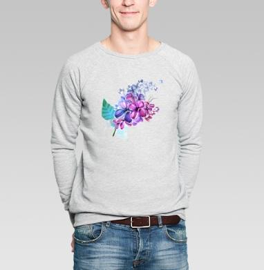 Ветка сирени - Купить мужские свитшоты Текстуры в Москве, цена мужских свитшотов Текстуры с прикольными принтами - магазин дизайнерской одежды MaryJane