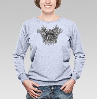 Викинг - Cвитшот женский, серый-меланж  320гр, стандарт, мужские, Популярные