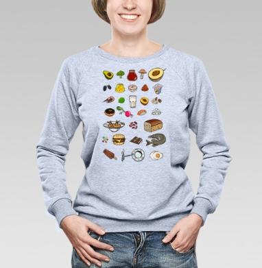 Вкусный алфавит - Купить детские свитшоты с фруктами в Москве, цена детских свитшотов с фруктами  с прикольными принтами - магазин дизайнерской одежды MaryJane
