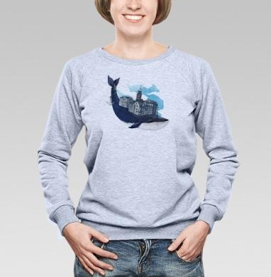 Whale city - Купить детские свитшоты с китами в Москве, цена детских свитшотов с китом с прикольными принтами - магазин дизайнерской одежды MaryJane