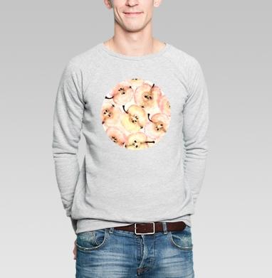 Яблоки  - Купить мужские свитшоты Текстуры в Москве, цена мужских свитшотов Текстуры с прикольными принтами - магазин дизайнерской одежды MaryJane