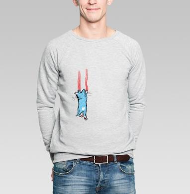 Царапка - Купить мужские свитшоты с усами в Москве, цена мужских свитшотов с усами с прикольными принтами - магазин дизайнерской одежды MaryJane