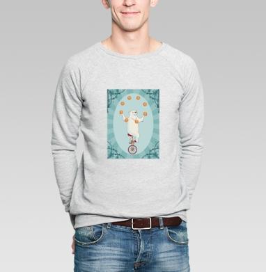 Circus bear - Купить мужские свитшоты с велосипедом в Москве, цена мужских  с велосипедом  с прикольными принтами - магазин дизайнерской одежды MaryJane