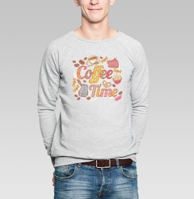 Coffee Time - Купить мужские свитшоты сладости в Москве, цена мужских свитшотов со сладостями  с прикольными принтами - магазин дизайнерской одежды MaryJane