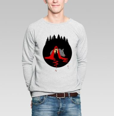 Cute red riding hood - Купить мужские свитшоты с волками в Москве, цена мужских свитшотов с волками  с прикольными принтами - магазин дизайнерской одежды MaryJane