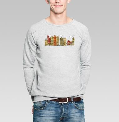 Цветной Амстердам - Купить мужские свитшоты с городами в Москве, цена мужских  с городами  с прикольными принтами - магазин дизайнерской одежды MaryJane