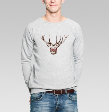 Dear deer - Купить мужские свитшоты Новый год в Москве, цена мужских свитшотов новогодних  с прикольными принтами - магазин дизайнерской одежды MaryJane