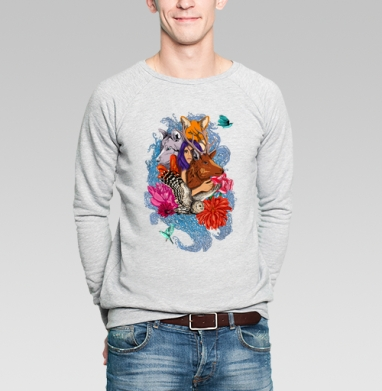 Dear deer - Купить мужские свитшоты с волками в Москве, цена мужских  с волками  с прикольными принтами - магазин дизайнерской одежды MaryJane