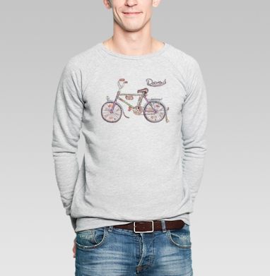 Десна I (ностальгический велосипед) - Купить мужские свитшоты СССР в Москве, цена мужских свитшотов СССР  с прикольными принтами - магазин дизайнерской одежды MaryJane