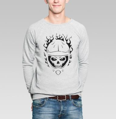Fire Rider - Купить мужские свитшоты с велосипедом в Москве, цена мужских свитшотов с велосипедом с прикольными принтами - магазин дизайнерской одежды MaryJane