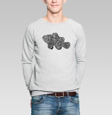 Fish Abstract  - Купить мужские свитшоты с символами в Москве, цена мужских свитшотов с символом с прикольными принтами - магазин дизайнерской одежды MaryJane