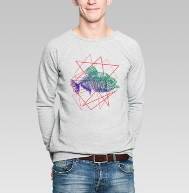Fish - Купить мужские свитшоты с черепом в Москве, цена мужских  с черепом  с прикольными принтами - магазин дизайнерской одежды MaryJane