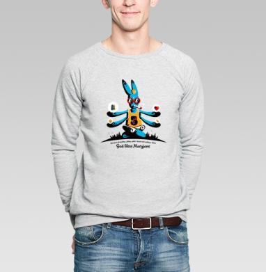 God bless Maryjane - Купить мужские свитшоты с дымом в Москве, цена мужских свитшотов с дымом  с прикольными принтами - магазин дизайнерской одежды MaryJane