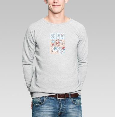 Гроза Вирусов - Купить мужские свитшоты с роботами в Москве, цена мужских свитшотов с роботами с прикольными принтами - магазин дизайнерской одежды MaryJane