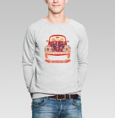 Жук в цветах - Купить мужские свитшоты с автомобилями в Москве, цена мужских свитшотов с автомобилями  с прикольными принтами - магазин дизайнерской одежды MaryJane