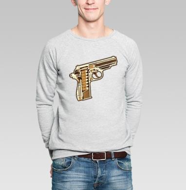 Gun - Купить мужские свитшоты с оружием в Москве, цена мужских  с оружием  с прикольными принтами - магазин дизайнерской одежды MaryJane