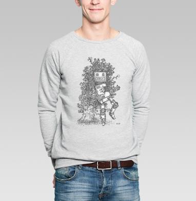 Help! - Купить мужские свитшоты с роботами в Москве, цена мужских свитшотов с роботами с прикольными принтами - магазин дизайнерской одежды MaryJane