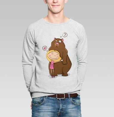 I like teddy bears - Купить мужские свитшоты милые в Москве, цена мужских свитшотов милых  с прикольными принтами - магазин дизайнерской одежды MaryJane