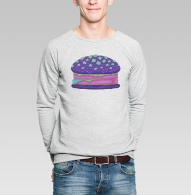 Инопланетный бургер - Купить мужские свитшоты с едой в Москве, цена мужских свитшотов с едой  с прикольными принтами - магазин дизайнерской одежды MaryJane