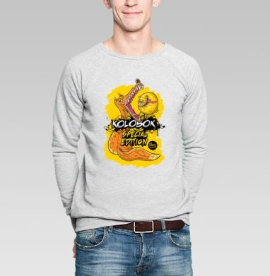 Kolobok (special edition) - Купить мужские свитшоты со сказками в Москве, цена мужских свитшотов со сказками  с прикольными принтами - магазин дизайнерской одежды MaryJane